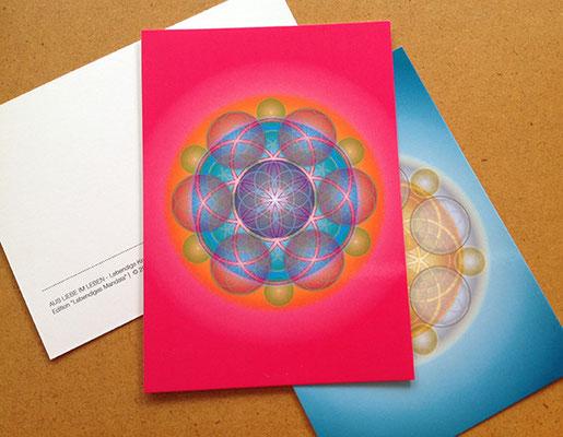 Lebendige Mandala-Postkarten © Susanne Barth