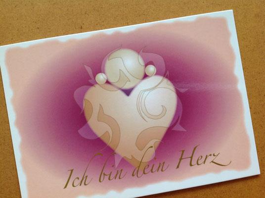 Ich Bin Dein Herz-Motiv-Postkarte © Susanne Barth