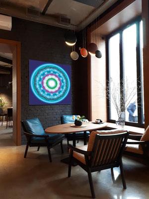 """Lebendiger Christall """"Für"""" im Café, Bar, Restaurant, Hotel als Wandbild. © Susanne Barth. Freie Arbeit mit Foto: Pixabay"""