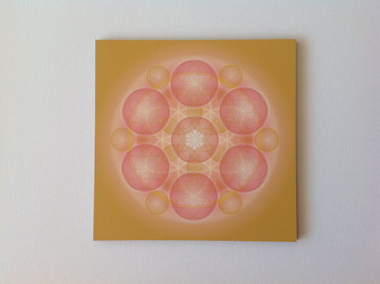Lebendiges Mandala, gedruckt auf Alu - Dibond  © Susanne Barth