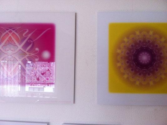 Lebendiger Schlüssel und Lebendiger Kristall in Privaträumen, Echtfoto hinter Acrylglas, 50 x 30 cm und 30 x 30 cm © Susanne Barth