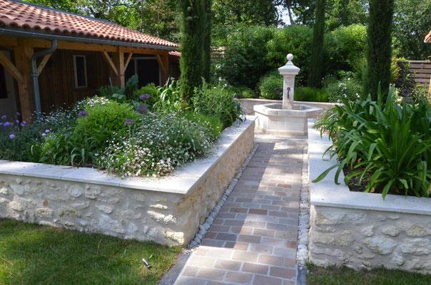 L'aménagement du jardin fini