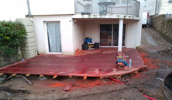 Terrasse bois Padouk