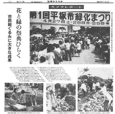 「広報ひらつか」バックナンバー 第271(1974年5月15日)号
