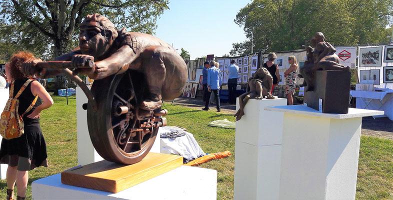 Sculpteur Bernard Brochard Prix sculpture de la ville de Bayonne 2017