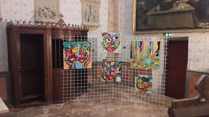 Peintre sculpteur   Agnès LACOMBE  atelier et galerie 20 rue Vielle Boucherie Bayonne