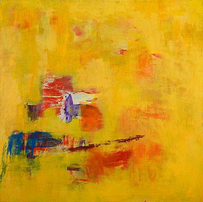 """Mittagshitze"", 2012, 80 x80 cm, Acryl auf Leinwand"