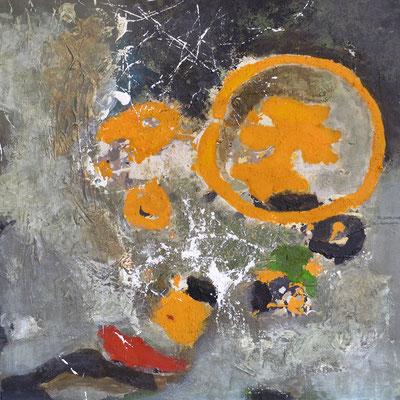 """Flechten"", 2012, 80 x 80 cm, Acryl auf Leinwand"
