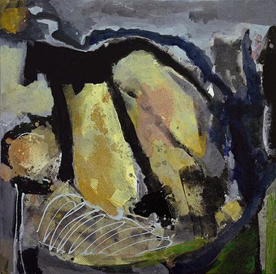 """Être au Monde"", 2016/2017, 80 x 80 cm, Acryl auf Leinwand"