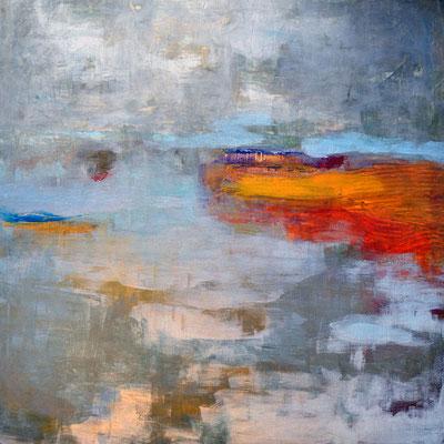 """""""Nebelküste I"""", 2011, 80 x 80 cm, Acryl auf Leinwand"""