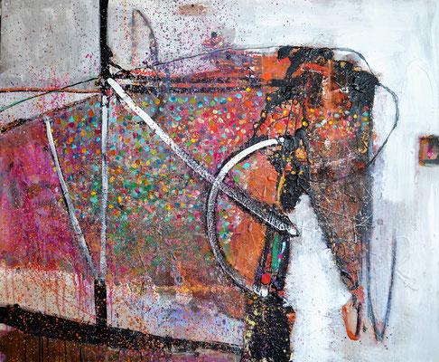 """Elefantasie"", 2018, 100 x 120 cm, Acryl auf Leinwand"
