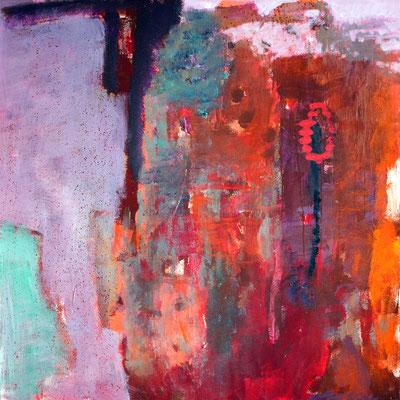 """""""Feuerrost"""", 2013, 100 x 100 cm, Acryl auf Leinwand"""