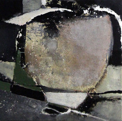 """Formstudie"", 2018, 40 x 40 cm, Acryl/Sand auf Leinwand"
