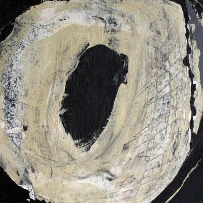 """Formstudie"", 2018, 30 x 30 cm, Acryl/Wachs auf Pappe/Casani"