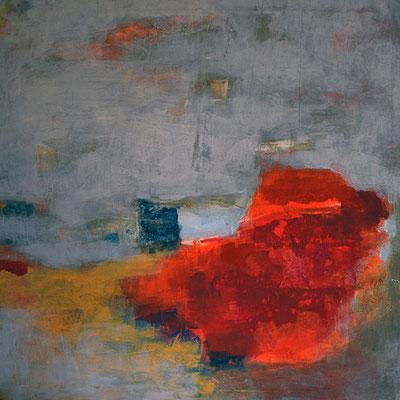 """""""Nebelküste II"""", 2011, 80 x 80 cm, Acryl auf Leinwand"""