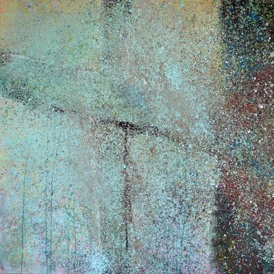 """Ostern"",  2015, 100 x 100 cm, Acryl/Sand auf Leinwand"