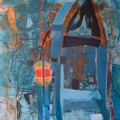 """Ohne Titel"", 2013, 100 x 100 cm, Acryl auf Leinwand"