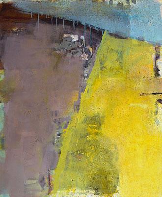 """Gelbe Kante"", 2013, 120 x 100 cm, Acryl auf Leinwand"