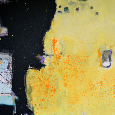 """Nacht und Tag"", 2014, 100 x 100 cm, Acryl auf Leinwand"