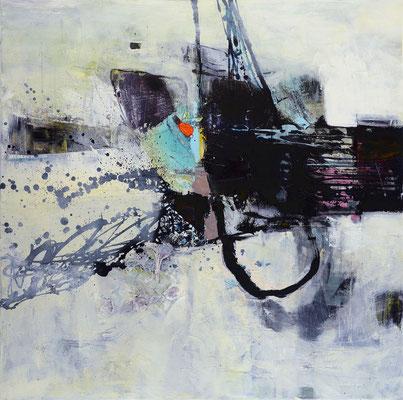 """Aus dem Nichts"", 2019, 100 x 100 cm, Acryl auf Leinwand"