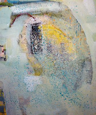 """Monolith"", 2014, 120 x 100 cm, Arcyl/Material auf Leinwand"