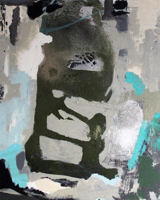 """Metamorphose"", 2018, 100 x 80 cm, Acryl/Material auf Leinwand"