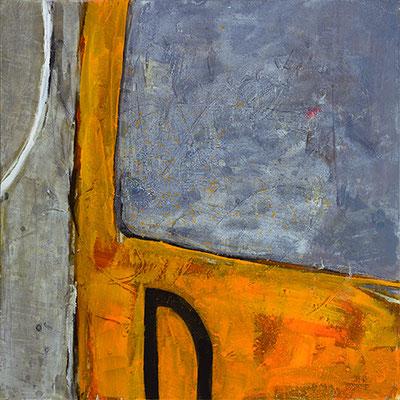 """""""Trieb_wagen"""", 2015/2016, 80 x 80 cm, Acryl auf Leinwand"""
