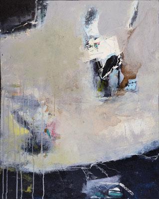 """Gleichung"", 2019, 100 x 80 cm, Acryl mit Sand auf Leinwand"