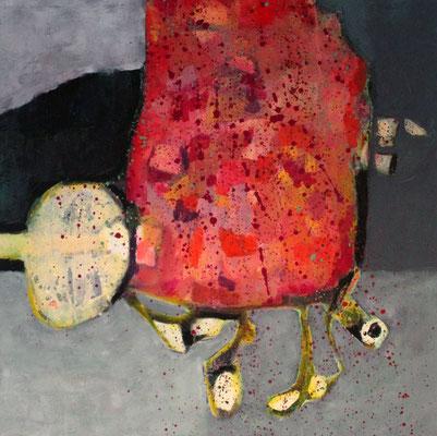 """Megapixel"", 2018, 100 x 100 cm, Acryl auf Leinwand"