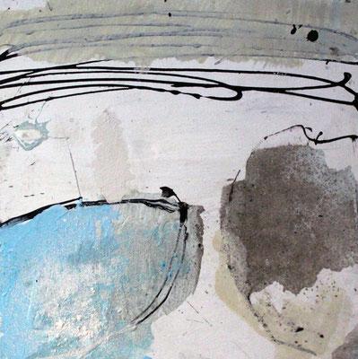 """Formstudie"", 2018, 30 x 30 cm, Acryl/Sand auf Pappe/Casani"