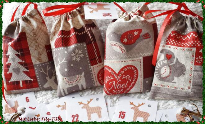 Adventssäckchen Weihnachtsmotive