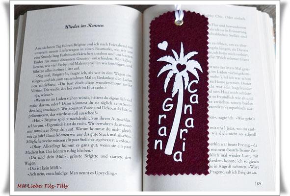 Lesezeichen, Lesezeichen Filz, Gran Canaria