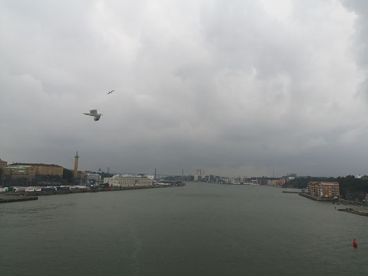 Einfahrt in den Hafen von Göteborg