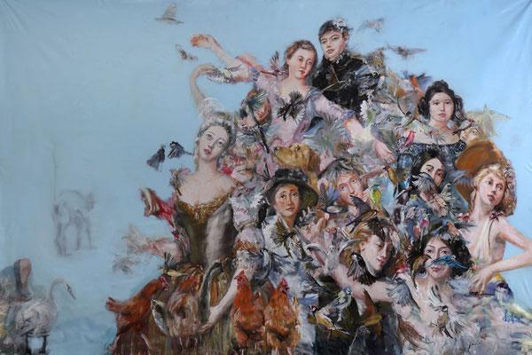 Envol lent - huile sur toile - 200 x 300 cm - 2019