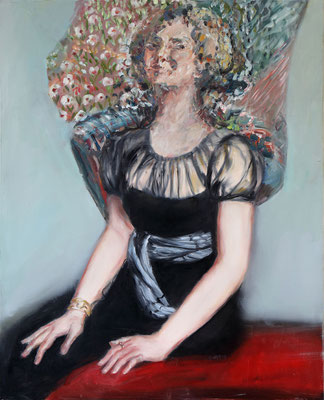 Femme trouble - huile sur toile - 100 x 81 cm - 2019