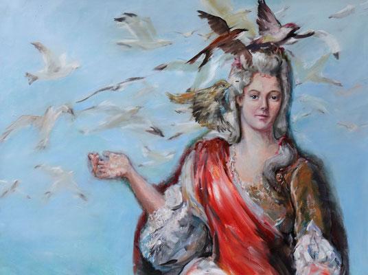 Mouettes - huile sur toile - 97 x 130 cm - 2019