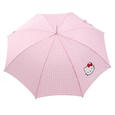 14111 Lange automatisch Hello Kitty Vichy rose