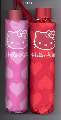 15113 Opvouwbare Paraplu Hello Kitty met hartjes set van 2