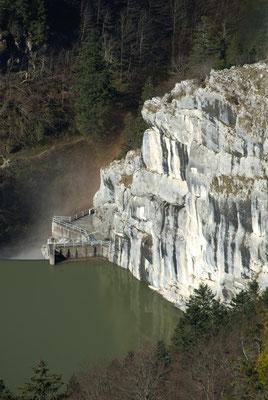 En dessus du Barrage du Chatelot