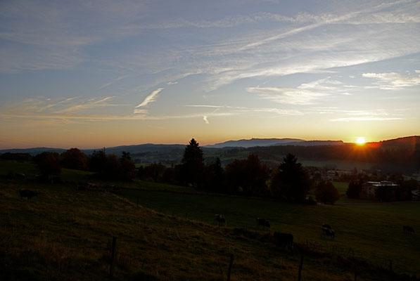 Lever de soleil depuis Pouillerel, La Chaux-de-Fonds