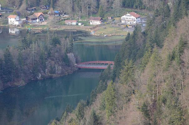 Le même pont depuis le Valanvron