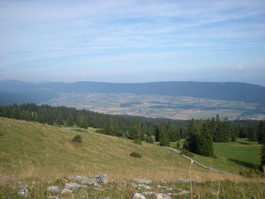 Le Val de Ruz depuis le Mont Racine