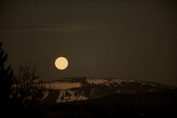La Lune depuis Le Valanvron