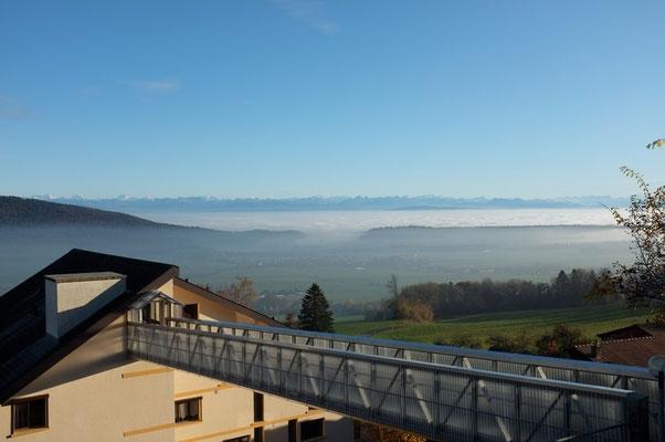 Les Alpes depuis les Hauts-Geneveys