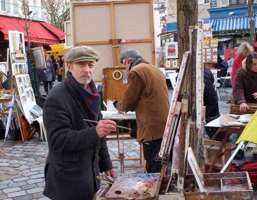 Peintre, Montmartre, 2011