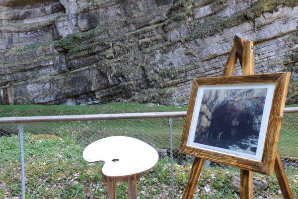 Source de La Loue, Peinture Gustave courbet