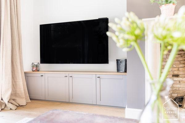 TV kast op maat gemaakt in nis
