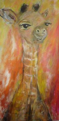Giraffe 80x40 cm Acryl auf Leinwand
