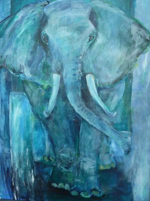Elefant 140x100 cm Acryl auf Leinwand