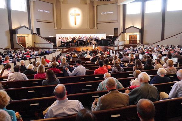 Morning service at Christ Presbyterian Church